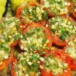 Tomates asados con hierbas provenzales