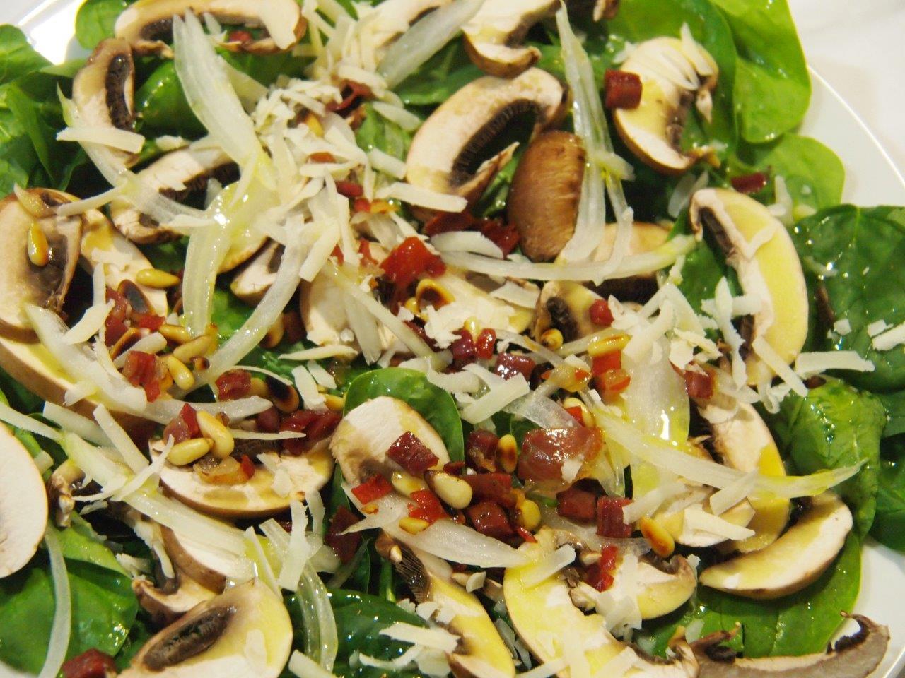 ensalada de espinacas y champi ones cocina sin carn rh cocinasincarne es
