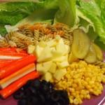 Ensalada de surimi con jengibre proceso