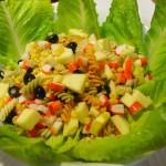 Ensalada de surimi con jengibre plato