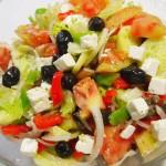 ensalada griega lechuga