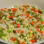 Ensalada  arroz jamón queso