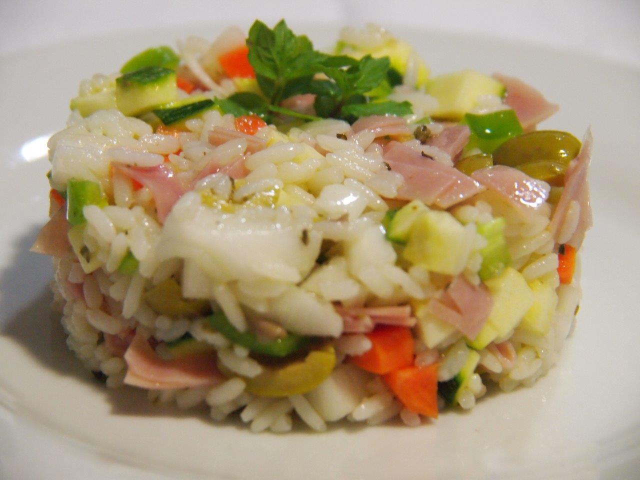 Ensalada de arroz jam n y queso cocina sin carn - Arroz con alcachofas y jamon ...