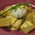 Huevos trufados poché con muselina9