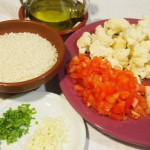 Arroz  bacalao  coliflor ingredientes