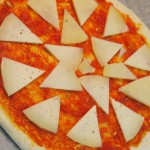 Pizza de berenjena y calabacín