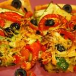 Pizza de berenjena y calabacín5