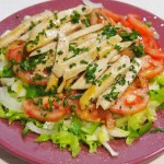 Ensalada pollo parmesano