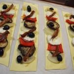 Hojaldres hortalizas queso de cabra