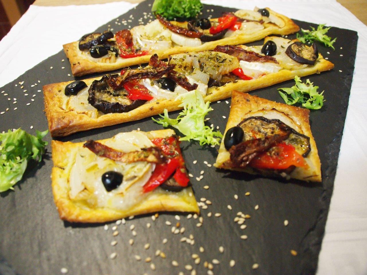 Hojaldres de hortalizas y queso de cabra cocina sin carn - Queso de cabra y colesterol ...