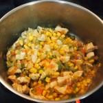 Sopa maíz pollo