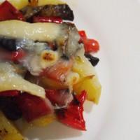 verduras horno queso cabra