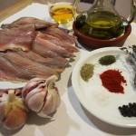 Escabeche lomos de sardina  ajos morados
