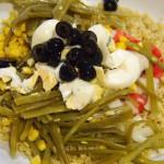 ensalada quinoa maíz judías verdes