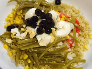 ensalada quinoa judías verdes