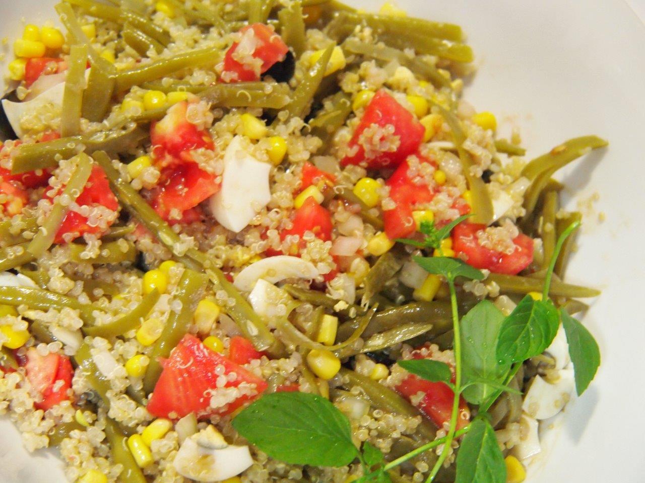 Ensalada de quinoa ma z y jud as verdes cocina sin carn - Ensalada de judias verdes arguinano ...