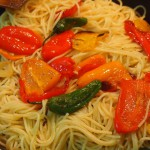 Espagueti peperonata