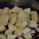 Lombarda manzana nueces
