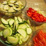 Lasaña  verduras  queso  feta ingredientes