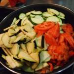 Lasaña verduras  queso  feta