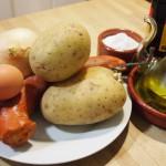 timbal de tortilla y farinato