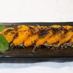 Naranjas tierra de galleta virutas de chocolate aceite de oliva