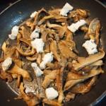 Tallarines  setas  gorgonzola