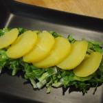 Ensalada de espárragos blancos con mojo verde