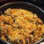 arroz con conejo y boletus