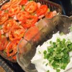 Gratinado de verduras y salchichas crudo