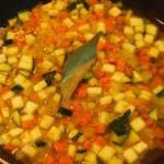 verduras pochando