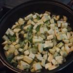 fideos de arroz verduras y setas sofrito