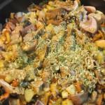 verduras y setas para fideos de arroz