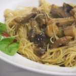 fideos arroz verduras setas