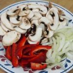verduras y champiñones estilo oriental