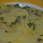 tortilla española con salvia