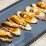 Tapa de mejillones en escabeche con patatas