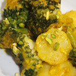 Gratinado de patata y brocoli al curry
