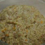 Rosquillas integrales de naranja masa