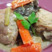 Blanqueta de pollo con setas6