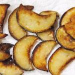 Crema de berenjenas y almendras chips