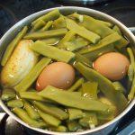 Judías verdes cociendo