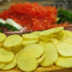 patatas laminadas para cordero asado