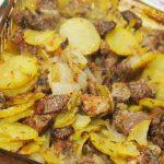 cordero asado con patatas y limón