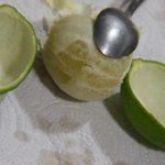 cáscaras de limas para gelatina de mojito