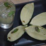 gelatina de mojito en chupito y en cáscaras de lima