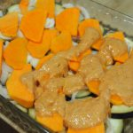 preparado de verduras para horno