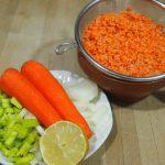 ingredientes para sopa de cordero y lenteja roja