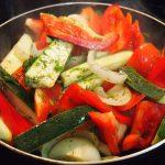 Sartén de verduras para arreglo mallorquín
