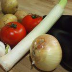 ingredientes cazuela criolla de patatas y berenjenas